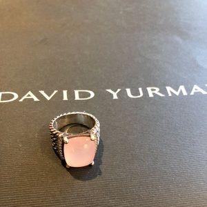 Stunning David Yurman Wheaton Ring Rose Quartz!